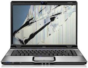 uszkodzona matryca w laptopie